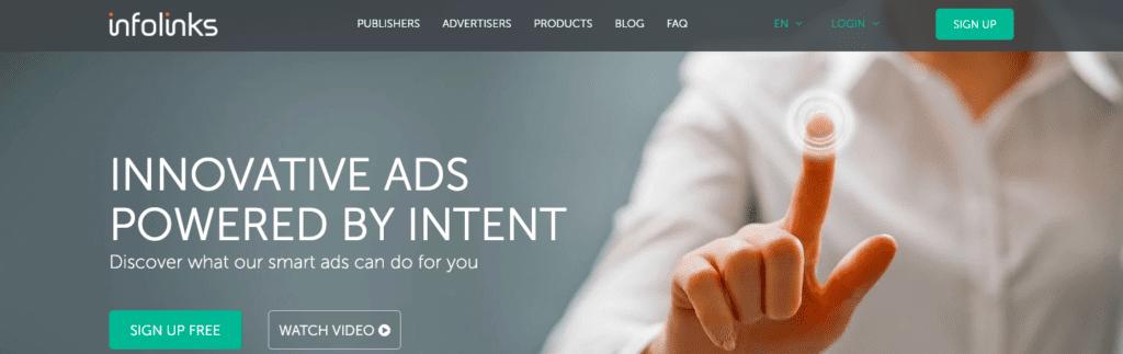 infolinks is the adsense alternatives.